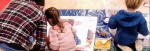 Painting with the children